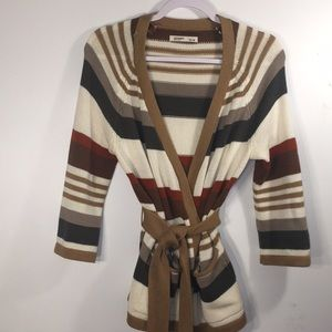 Old Navy Open-Front Striped Sweater size medium